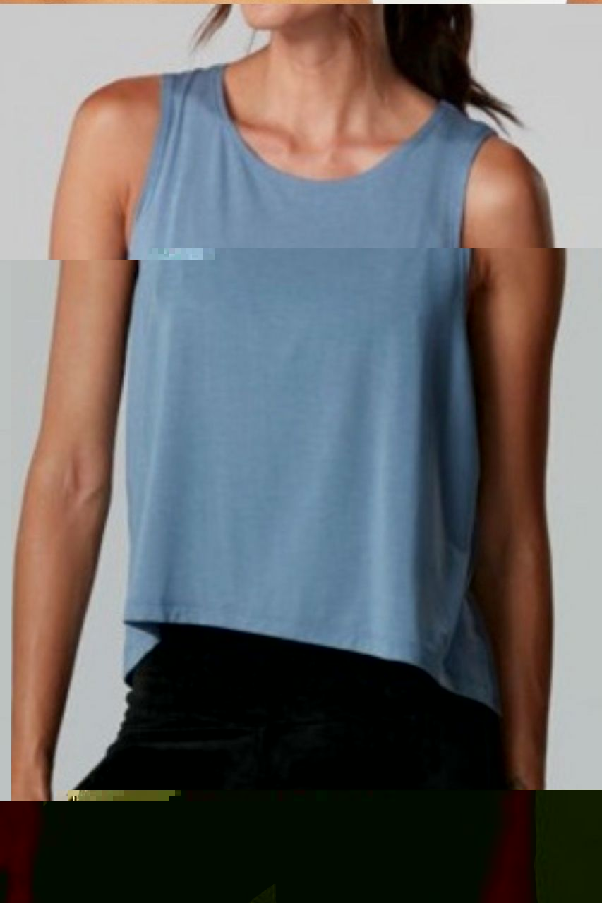 High Low Tank - Slate Blue