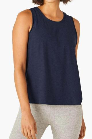 Balanced Muscle Tank - Nocturnal Navy