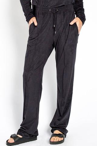 Suede Palazzo Pant