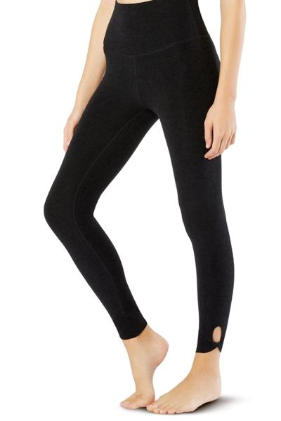 Don't Get It Twisted High Waisted Midi Legging- Darkest Night
