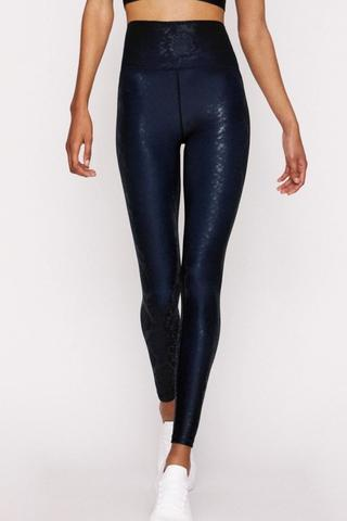 High Waist Legging - Blue Viper